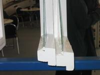 Zateplení oken - řez původním křídlem  - viz. foto